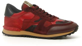 Valentino Men's Rock Runner Camo Trainer Sneakers