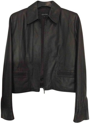 N. \n Brown Leather Leather Jacket for Women