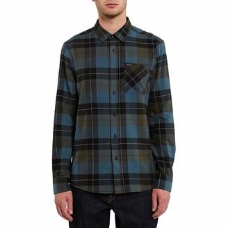 Volcom Men's Caden Plaid L/S Button Down Shirt