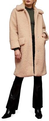 Topshop Molha Faux Shearling Coat