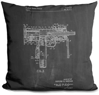 M·A·C Williston Forge Chancy Mac Gun Throw Pillow Williston Forge