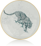 Hermes Carnets D'Equateur Panther-Illustrated Dessert Plate