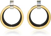 Marni Black and Gold Hoop Earrings