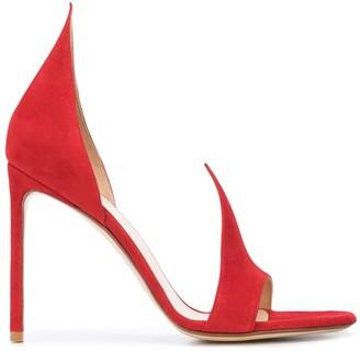 Francesco Russo Structured High Heel Sandals