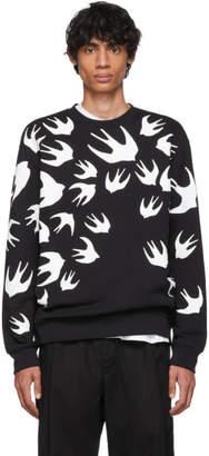 McQ Black Swallow Swarm Sweatshirt