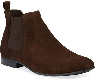 Kenneth Cole Men's Short Suede Chelsea Boots