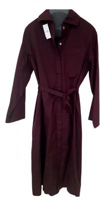 Hermes Burgundy Cotton Dresses