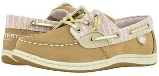 Sperry Kids Songfish (Little Kid/Big Kid) (Linen Oat Beach Stripe) Girl's Shoes