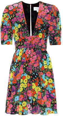 Les Rêveries Floral silk dress