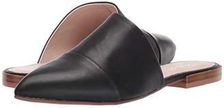 42 GOLD Castle (Black Leather) Women's Flat Shoes