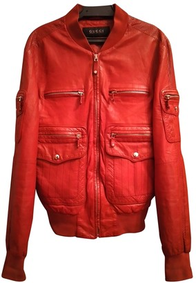 Gucci Red Leather Jackets