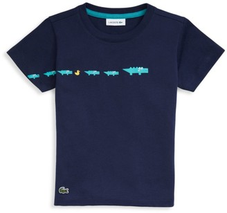 Lacoste Little Boy's & Boy's Croc & Duck Cotton T-Shirt