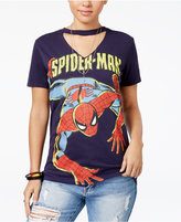 Marvel Juniors' Spider-Man Cutout Graphic T-Shirt