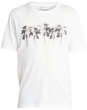 Saint Laurent Men's Palms Graphic Tee