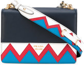 Prada zigzag detail crossbody bag - women - Calf Leather - One Size