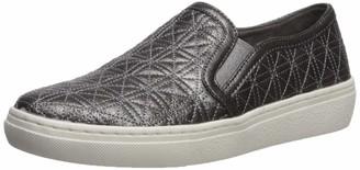 Skechers Women's Goldie-Distressed Metallic Quilted Slip on Sneaker