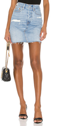 Levi's High Rise Deconstructed Skirt. - size 23 (also