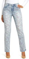Gloria Vanderbilt Faded Blue Floral Jeans - Plus
