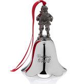 Mikasa Wallace® 2016 Nickel Plated Santa Bell Ornament, 25th Edition