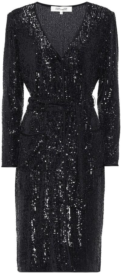 Diane von Furstenberg Melina sequined jersey midi dress