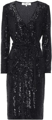 Diane von Furstenberg Melina sequined jersey midi dress