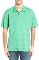 Tommy Bahama Men's Big & Tall Original Fit Jacquard Silk Camp Shirt