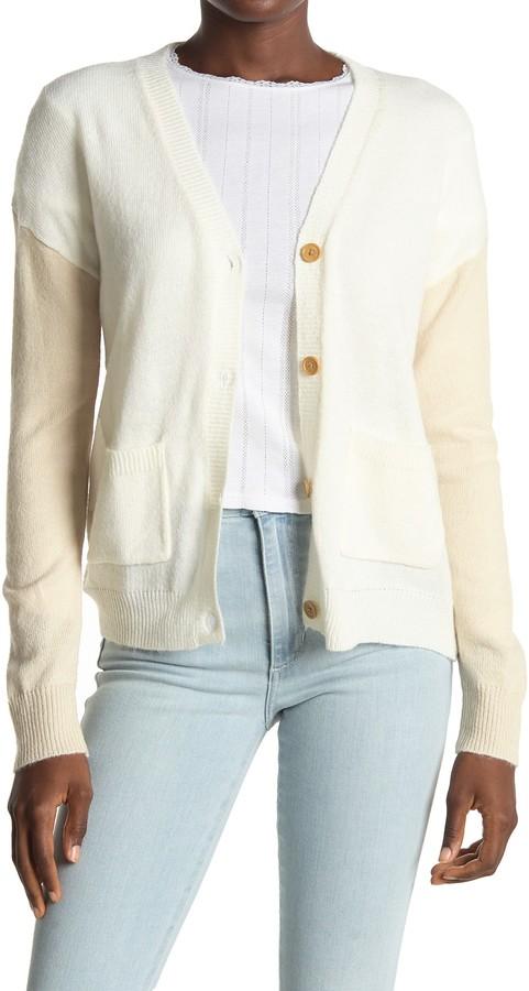 Love by Design Color Block Drop Shoulder Cardigan