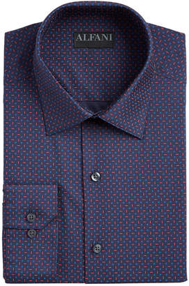 Alfani Men AlfaTech Slim-Fit Performance Stretch Geo-Print Dress Shirt