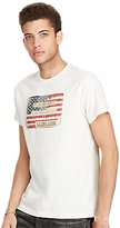 Denim & Supply Ralph Lauren American Flag Printed T-shirt, Cream