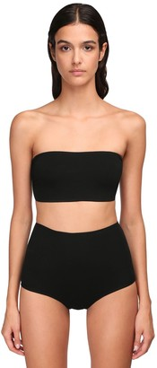 Alexandre Vauthier Stretch Jersey Bandeau Crop Top