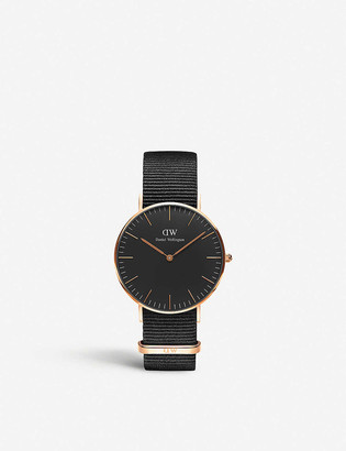 Daniel Wellington Classic Cornwall 36mm rose-gold watch