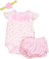 Baby Essentials Pink Heart Bodysuit Set - Infant