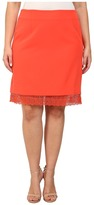 Mynt 1792 Plus Size Lace Hem Skirt