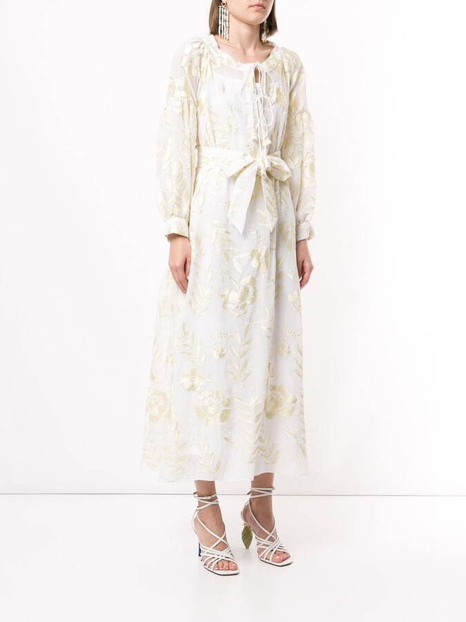 Thumbnail for your product : Bambah Alyssum floral embroidered dress