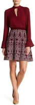 Romeo & Juliet Couture Printed Knit A-line Mini Skirt