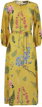 Max Mara Silk Medusa Floral Maxi Dress