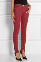 Balmain Coated mid-rise skinny jeans