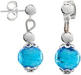 Murano Martick Glass Drop Earrings