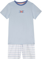 The Little White Company Christopher crab striped cotton pyjamas 6-12 years
