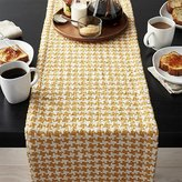 Crate & Barrel Houndstooth Amber Table Runner
