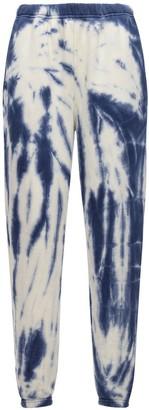LES TIEN Cropped Tie Dye Cotton Sweatpants