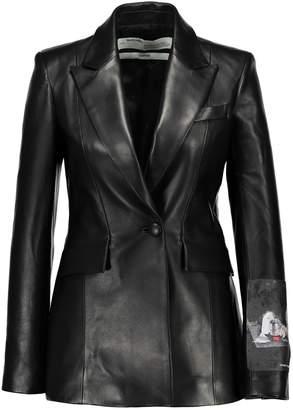 Off-White Off White Leather blazer