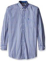 Wrangler Men's Big and Tall George Strait Blue One Pocket Long Sleeve Shirt