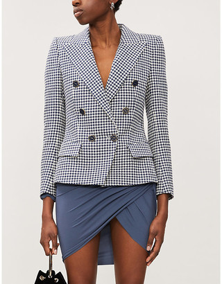 Alexandre Vauthier Double-breasted crystal-embellished stretch-woven blazer