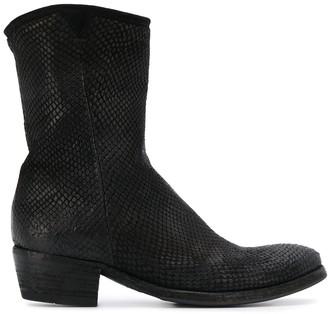Pantanetti Snake-Effect Boots