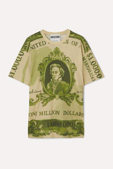 Moschino Oversized Printed Cotton-jersey T-shirt - Green