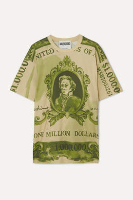 Moschino Oversized Printed Cotton-jersey T-shirt - Green