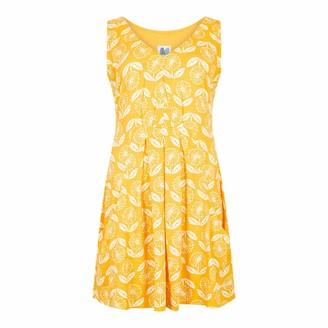 Weird Fish Indus Printed Jersey Tunic Sunshine Yellow Size 12