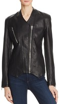Blank NYC BLANKNYC Collarless Faux Leather Moto Jacket