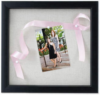 "Lawrence Frames Black Shadow Box Frame - Linen Inner Display Board - 8"" x 8"""